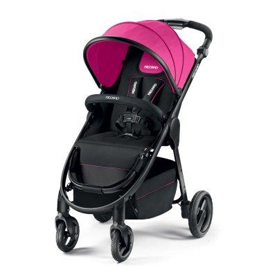 Poussette 4 roues citylife pink châssis noir Recaro