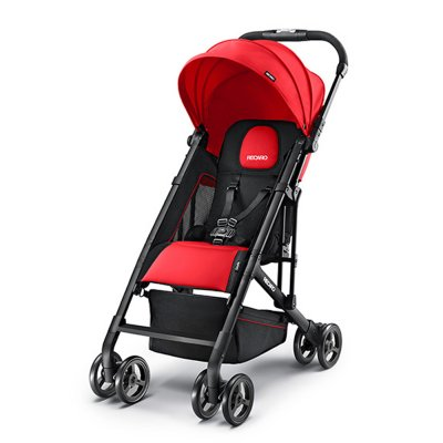 Poussette duo easylife ruby + coque privia racing red + adaptateurs Recaro