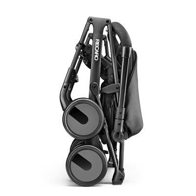 Poussette duo easylife elite graphite+coque guardia carbon black Recaro