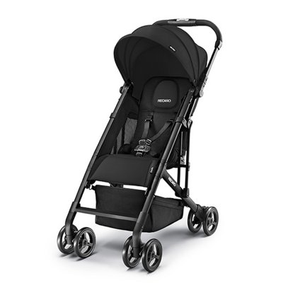 Poussette duo easylife black + coque privia performance black + adaptateurs Recaro