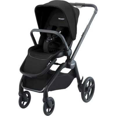 Pack poussette trio celona black et assise + nacelle + siège auto avan mat black + base Recaro