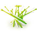 Sèche biberons et tétines mikado vert et blanc pas cher
