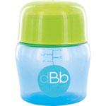Biberon sans bpa large ouverture compact tétine débit moyen bleu/vert 150ml pas cher