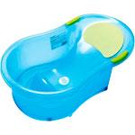 Baignoire bébé 0-6 mois + transat intégré bleu translucide pas cher