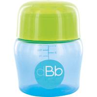 Biberon sans bpa large ouverture compact tétine débit moyen bleu/vert 150ml
