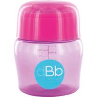 Biberon sans bpa large ouverture compact tétine débit moyen rose/violet 150ml