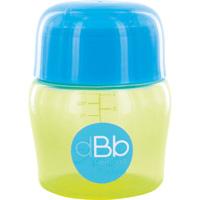 Biberon sans bpa large ouverture compact tétine débit moyen vert/bleu 150ml