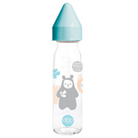 Biberon verre bao régul'air bleu lagon 240ml