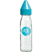 Biberon verre 240 ml dbb tétine silicone turquoise
