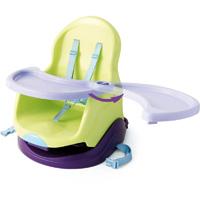 Réhausseur bébé avec plateau vert/prune