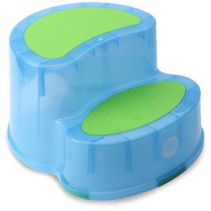 Marche pied bébé antidérapant bleu