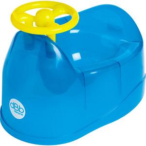 Pot bébé avec volant bleu
