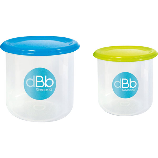 Lot de 2 pots de congélation 190 + 300ml Dbb remond
