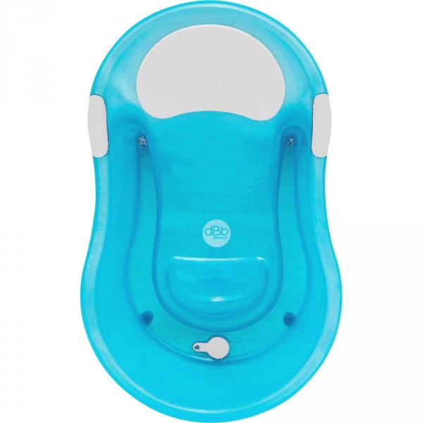 Baignoire bébé 0-6 mois + transat intégré turquoise translucide Dbb remond