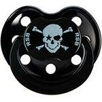 Sucette silicone'black pirate' noir t2 pas cher