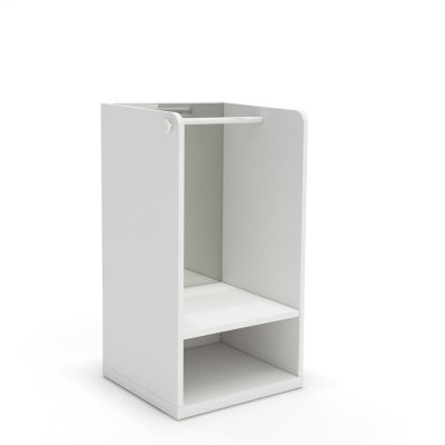 Meuble penderie blanc avec miroir sans pieds et patère ronde blanche Ros arco iris