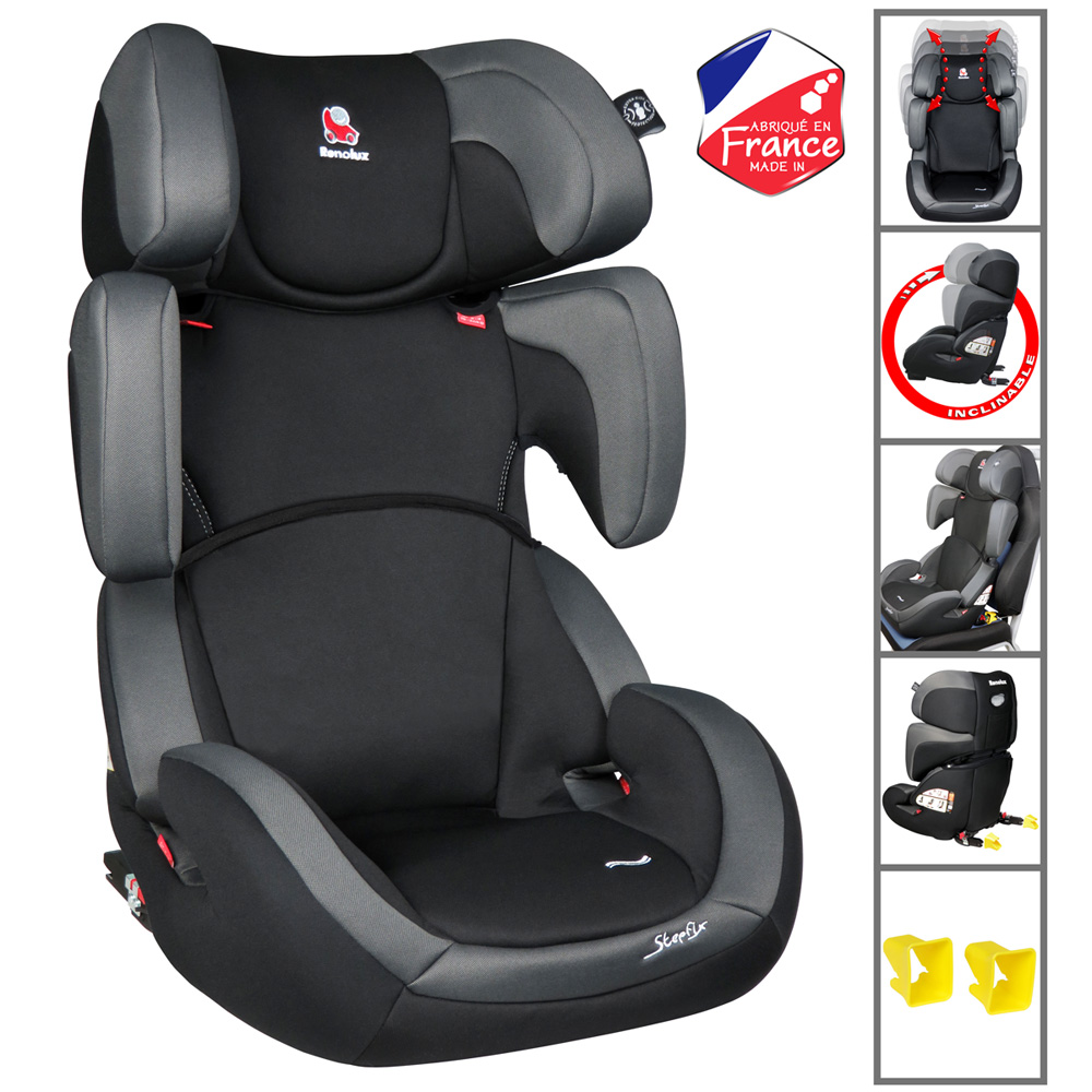 Si ge auto stepfix total black groupe 2 3 de renolux sur for Siege auto 2
