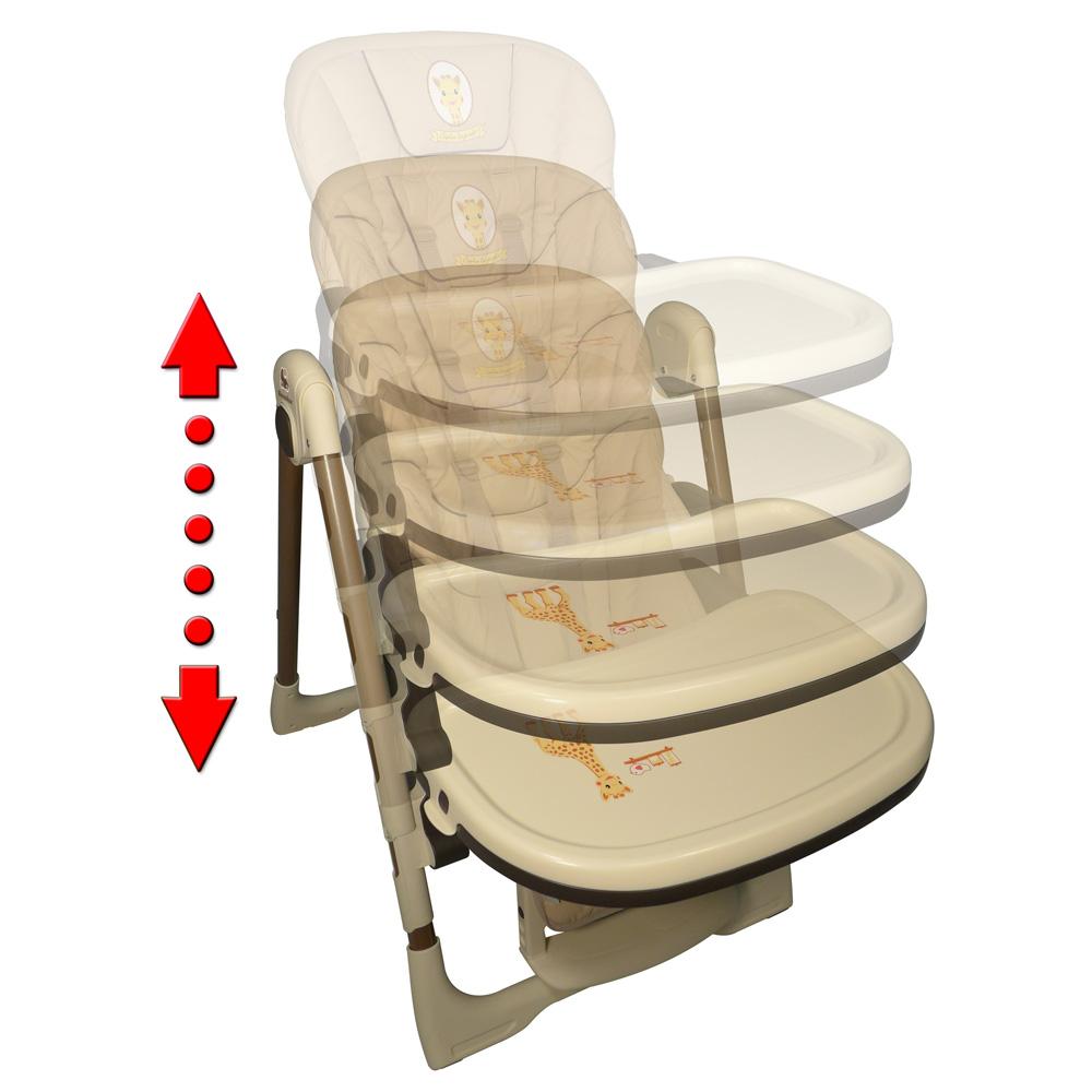 chaise haute r glable vision sophie la girafe de renolux chez naturab b. Black Bedroom Furniture Sets. Home Design Ideas