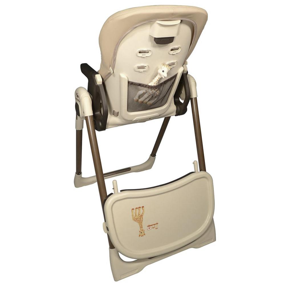chaise haute b b vision avec r ducteur sophie la girafe de renolux sur allob b. Black Bedroom Furniture Sets. Home Design Ideas
