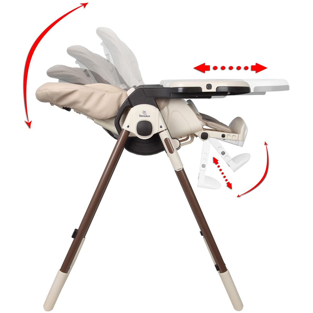 chaise haute b b vision avec r ducteur sophie la girafe de renolux chez naturab b. Black Bedroom Furniture Sets. Home Design Ideas