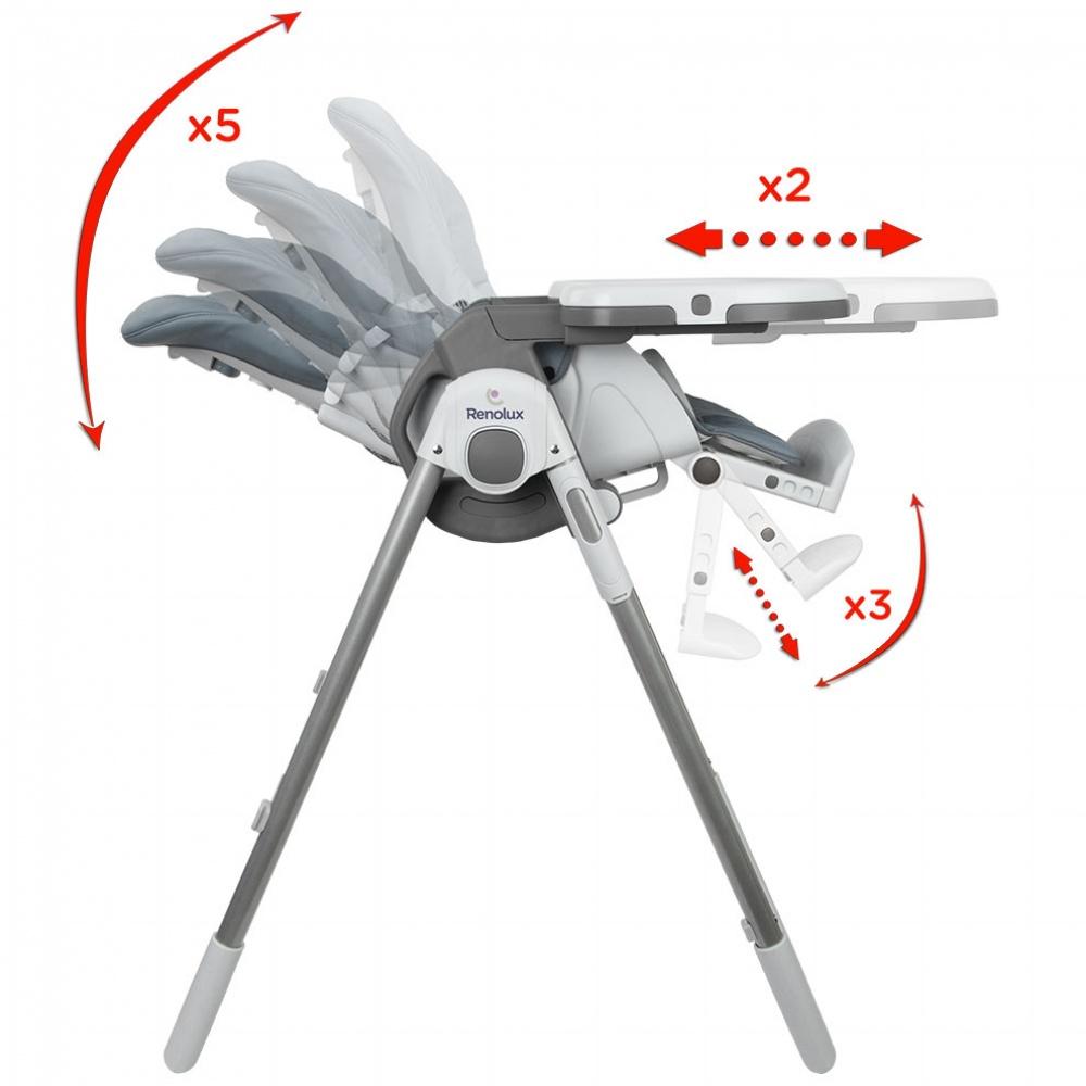 chaise haute b b vision avec r ducteur griffin de renolux sur allob b. Black Bedroom Furniture Sets. Home Design Ideas
