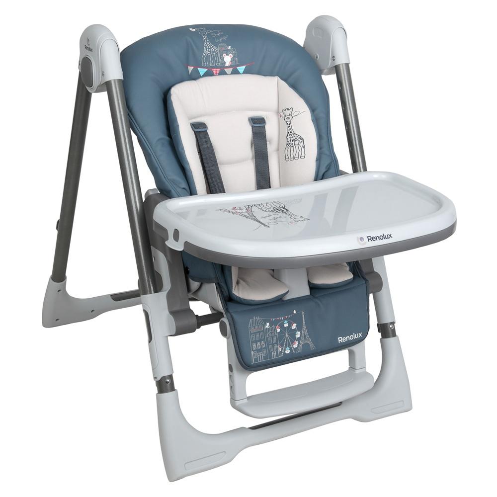 chaise haute b b vision avec r ducteur sophie la girafe. Black Bedroom Furniture Sets. Home Design Ideas