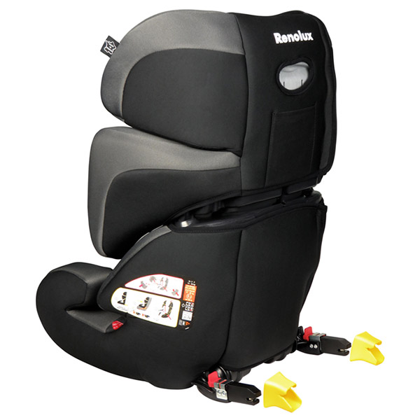 Siège auto stepfix total black groupe 2/3 Renolux