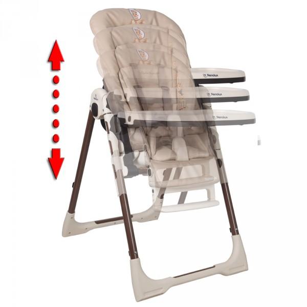 chaise haute b b vision avec r ducteur sophie la girafe 15 sur allob b. Black Bedroom Furniture Sets. Home Design Ideas