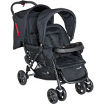 Poussette double tandem duodeal full black de Safety 1st