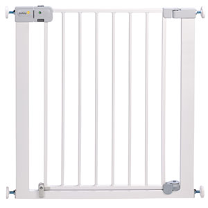 Barrière sécurité bébé u pressure auto-close metal white 73 - 80 cm