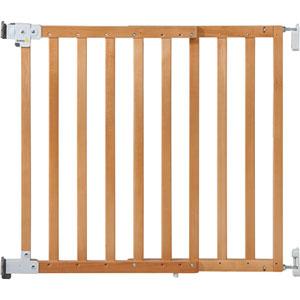Barrière sécurité bébé wall-fix extending wood bois naturel 73 - 80.5 cm