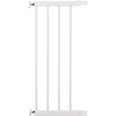 Extension barrière 28 cm u-pressure easy close metal/deco white Safety 1st