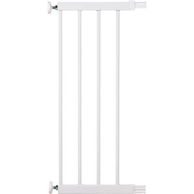 Extension barrière 28 cm u-pressure easy close metal/deco white Safety 1st