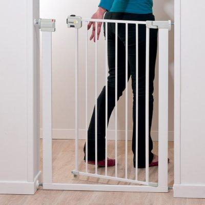 Barrière de sécurité u-pressure easy close extra tall metal white Safety 1st