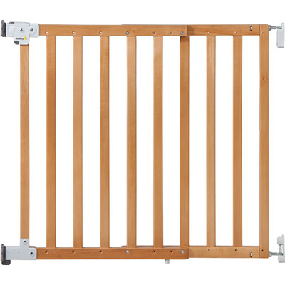 Barrière wall-fix extending wood bois naturel 63-104 cm Safety 1st