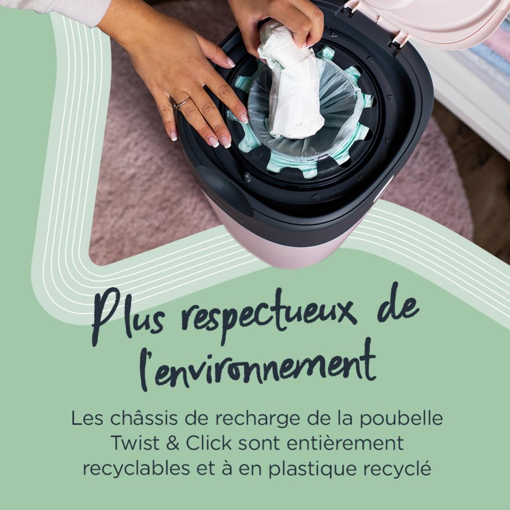 Starter pack poubelle simplee 6 recharges de sangenic - Poubelle anti odeur couche ...