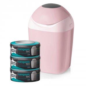 Poubelle tec rose + multipacks 3 recharges