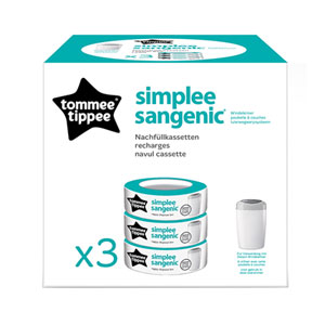 Sangenic Multipacks 3 recharges pour poubelle simplee