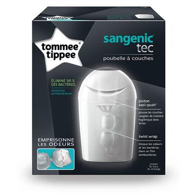 Poubelle sangenic tec + multipacks 6 recharges Sangenic