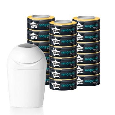 Poubelle tec + multipack 18 recharges Sangenic