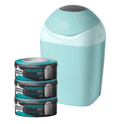 Poubelle tec vert + multipacks 3 recharges Sangenic