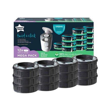 Lot de 12 recharges twist and click Sangenic