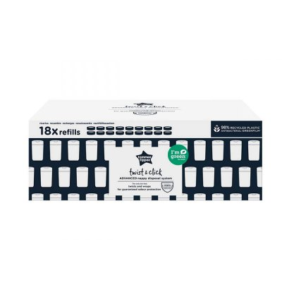 Lot de 18 recharges twist and click Sangenic