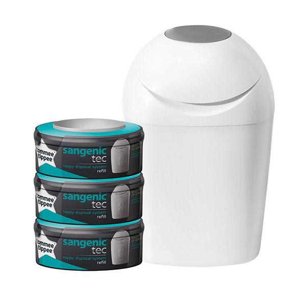 Poubelle tec + multipacks 3 recharges Sangenic