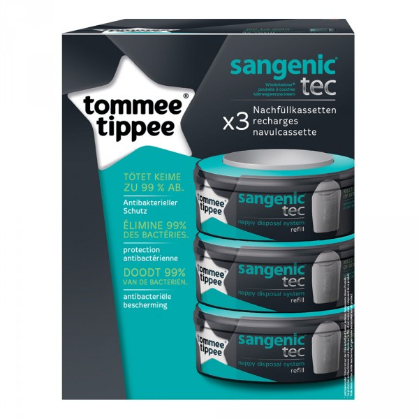 Poubelle tec taupe + multipacks 3 recharges Sangenic