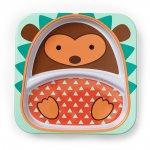 Assiette bébé à compartiment zoo hérisson