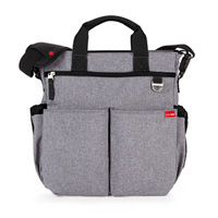 Sac à langer duo signature gris chiné