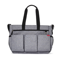 Sac à langer duo double gris chiné
