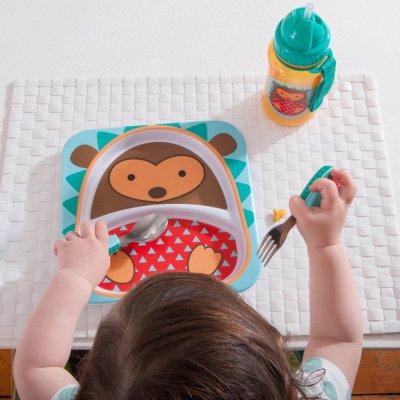 Assiette bébé à compartiment zoo hérisson Skip hop