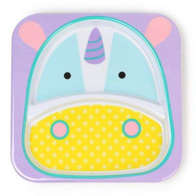 Assiette bébé à compartiment zoo licorne Skip hop